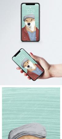 穿衣服的狗手机壁纸图片
