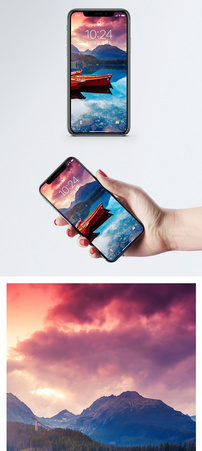 日落彩云手机壁纸图片