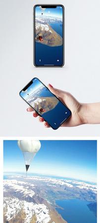 航拍跳伞手机壁纸图片