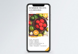 夏季水果手机海报配图图片