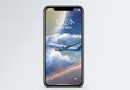 翱翔的飞机手机壁纸图片