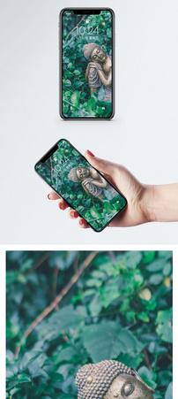 林中睡佛手机壁纸图片