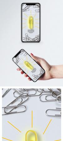 创意灯泡手机壁纸图片