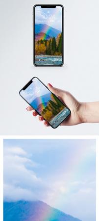 雨后彩虹手机壁纸图片
