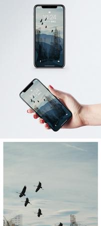 创意人物剪影手机壁纸图片