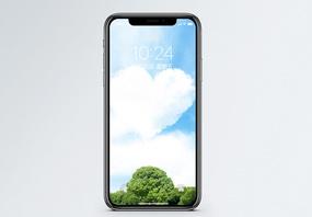 爱心蓝天手机壁纸图片