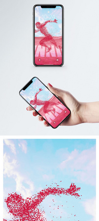 奔跑的人手机壁纸图片