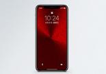 红色背景手机壁纸图片