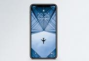 飞跃高楼的飞机手机壁纸图片