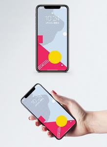 孟菲斯风格手机壁纸图片