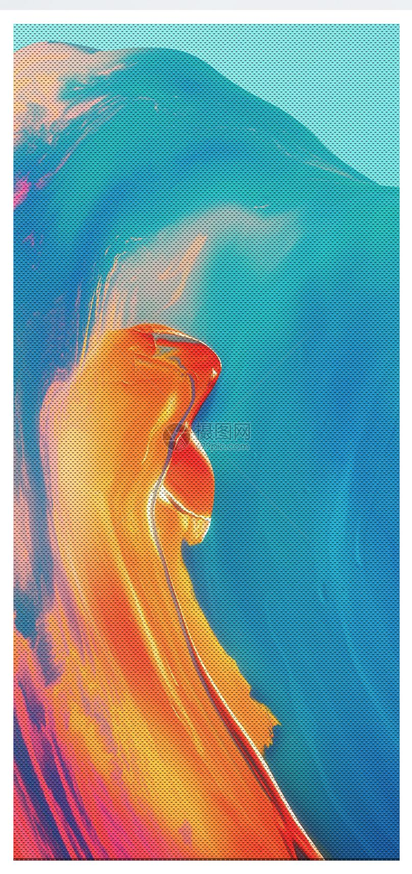 抽象油画背景手机壁纸图片