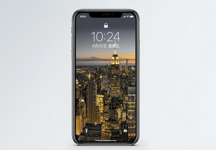 纽约黑金风景手机壁纸图片