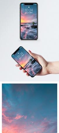 夕阳下的摄影人手机壁纸图片