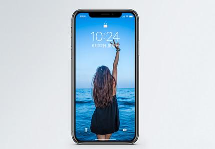 美女背影手机壁纸图片