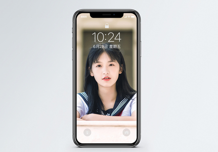 清纯美女手机壁纸图片
