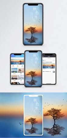 秋色手机海报配图图片