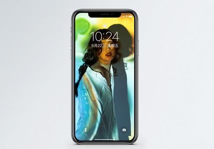 投影人像手机壁纸图片