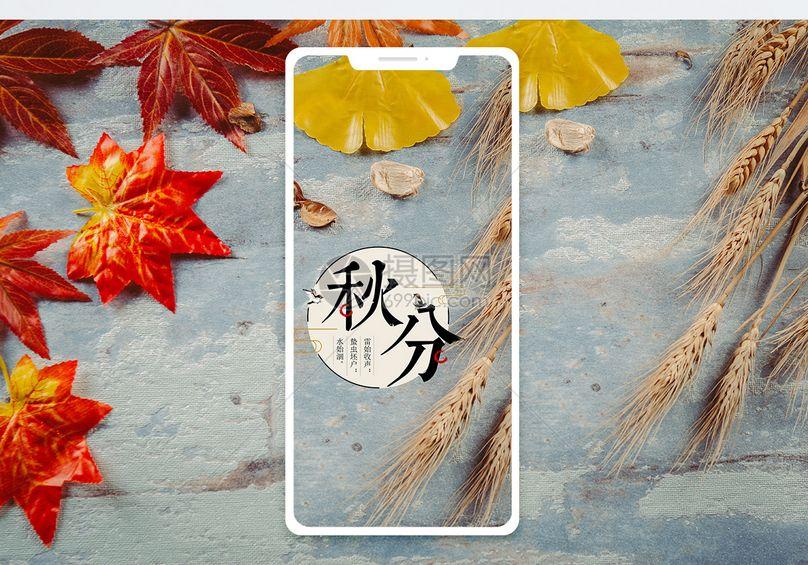 秋分手机海报配图秋图片