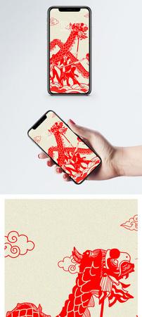 剪纸手机壁纸图片
