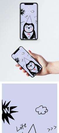 小企鹅可爱卡通手机壁纸图片