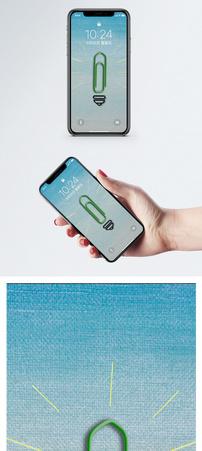 创意曲别针手机壁纸图片