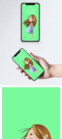 卡通女孩手机壁纸图片