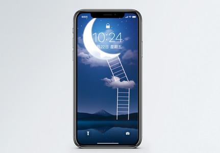 月亮背景手机壁纸图片
