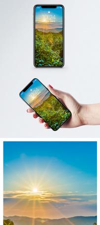 茶山日出手机壁纸图片