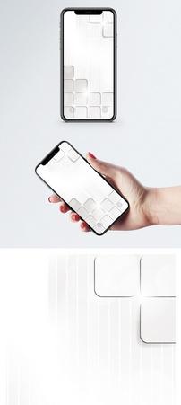 白色方格背景手机壁纸图片