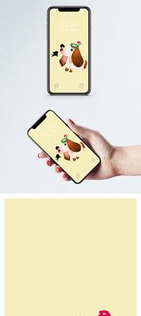狗狗鸟手机壁纸图片
