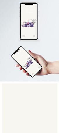卡通飞机手机壁纸图片