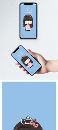 头饰女孩手机壁纸图片