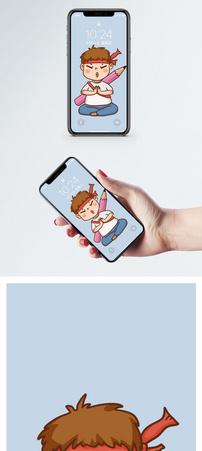 考试小男孩手机壁纸图片