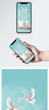 咖啡杯手机壁纸图片