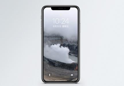 波阿斯火山口手机壁纸图片