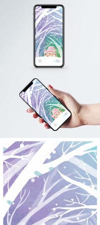 冬季唯美插画手机壁纸图片