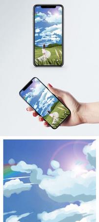 彩虹少女手机壁纸图片