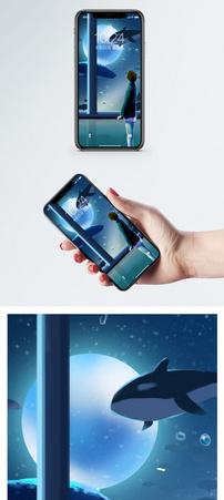 外太空的鱼手机壁纸图片