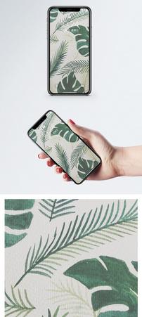 热带植物背景手机壁纸图片
