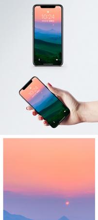 草原与日出手机壁纸图片