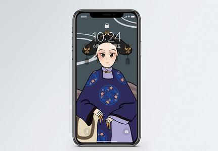 宫廷古装女子手机壁纸图片