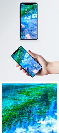 九寨沟五彩池手机壁纸图片