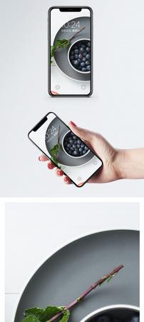 蓝莓手机壁纸图片