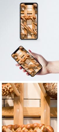 面包摆拍手机壁纸图片