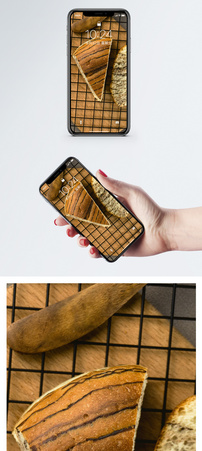 面包食材手机壁纸图片