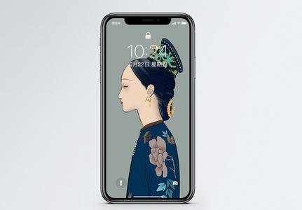 古代女子手机壁纸图片