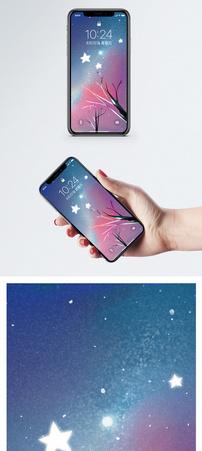 插画星空手机壁纸图片