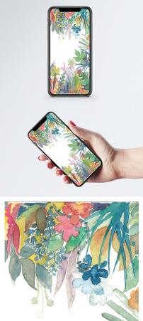 水彩植物手机壁纸图片