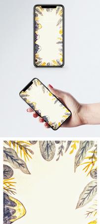 手绘植物手机壁纸图片