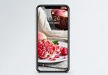 水果石榴手机壁纸图片